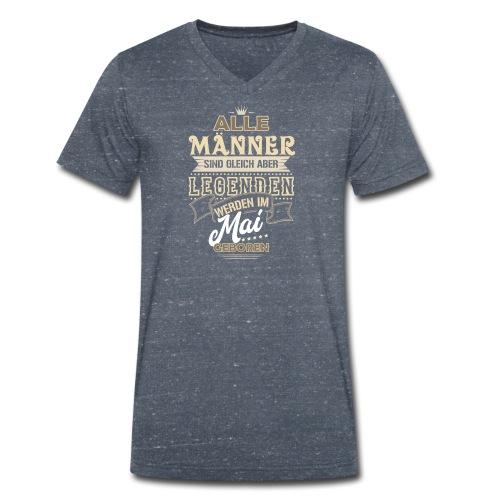 Mann Männer Legende Geburtstag Geschenk Mai - Männer Bio-T-Shirt mit V-Ausschnitt von Stanley & Stella