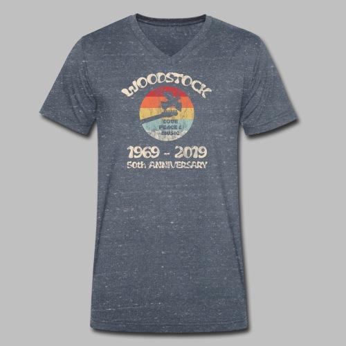 woodstock 50th anniversary love peace and music - Männer Bio-T-Shirt mit V-Ausschnitt von Stanley & Stella