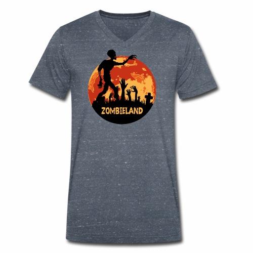 Zombieland Halloween Design - Männer Bio-T-Shirt mit V-Ausschnitt von Stanley & Stella