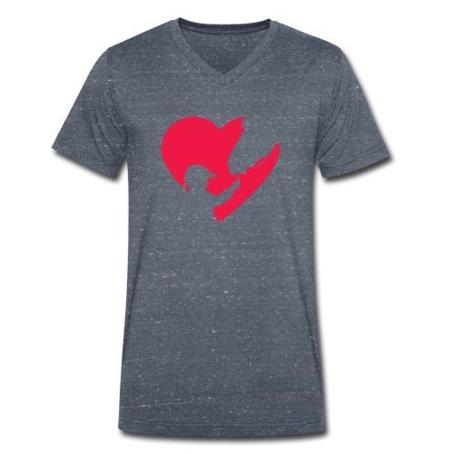 Horse Girl Cute Heart Horse Ride Gift for Horse - Camiseta ecológica hombre con cuello de pico de Stanley & Stella