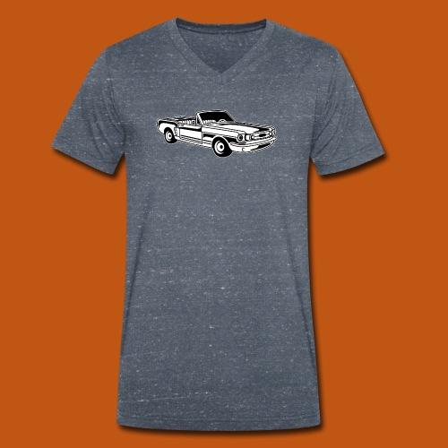 Cabrio / Muscle Car 02_schwarz weiß - Männer Bio-T-Shirt mit V-Ausschnitt von Stanley & Stella