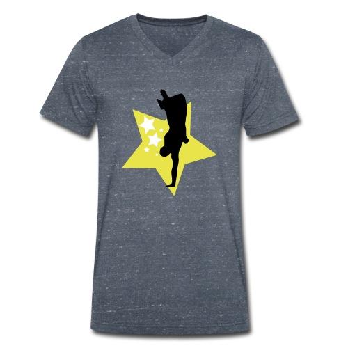 stars - Men's Organic V-Neck T-Shirt by Stanley & Stella