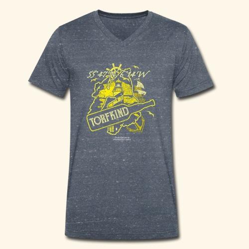 Whisky T Shirt Design Torfkind für Islay Fans - Männer Bio-T-Shirt mit V-Ausschnitt von Stanley & Stella