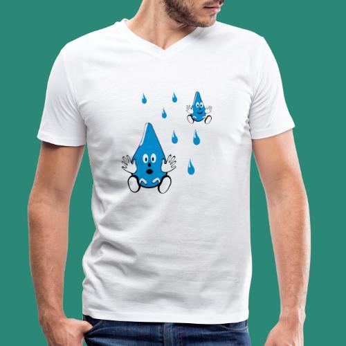 Tropfen - Männer Bio-T-Shirt mit V-Ausschnitt von Stanley & Stella