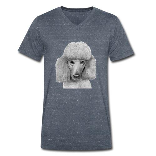 storpudel - standardpoodle abricot - Økologisk Stanley & Stella T-shirt med V-udskæring til herrer