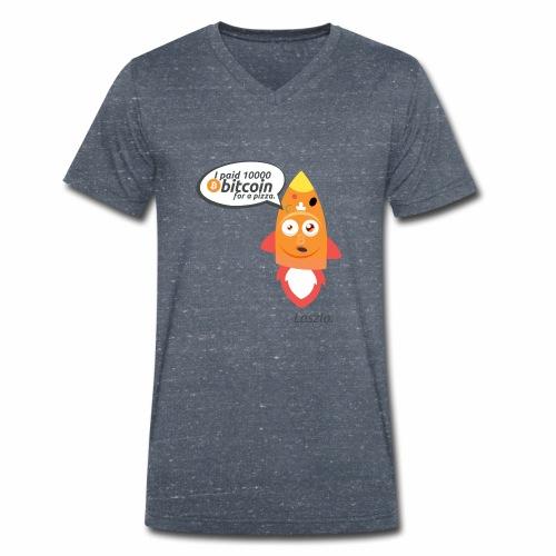 #BitcoinPizzaDay slice - T-shirt ecologica da uomo con scollo a V di Stanley & Stella