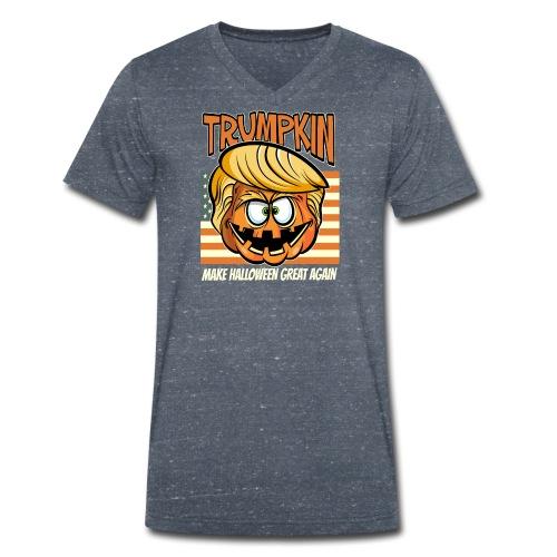 Trumpkin Donald Trump Halloween - Männer Bio-T-Shirt mit V-Ausschnitt von Stanley & Stella