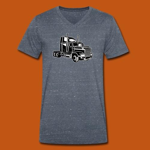 Truck / Lkw 02_schwarz weiß - Männer Bio-T-Shirt mit V-Ausschnitt von Stanley & Stella