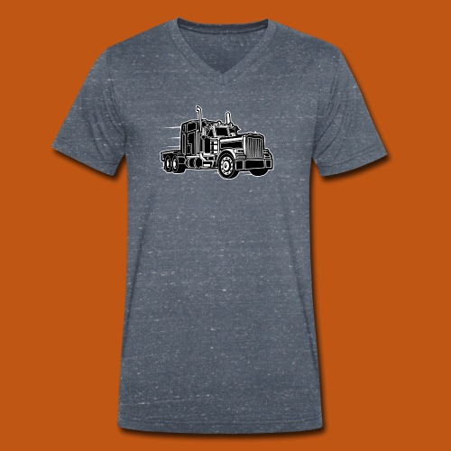 Truck / Lkw 03_schwarz weiß - Männer Bio-T-Shirt mit V-Ausschnitt von Stanley & Stella