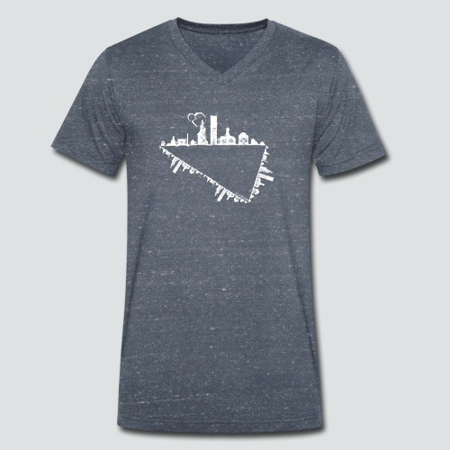 Heimatstadt png - Männer Bio-T-Shirt mit V-Ausschnitt von Stanley & Stella