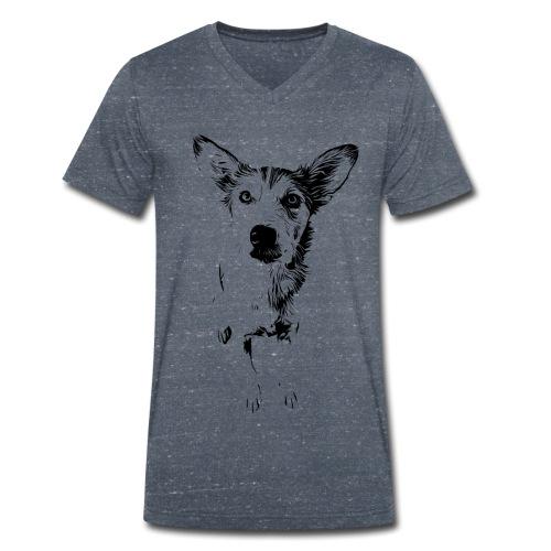 Podenco-Mischling / Hunde Design Geschenkidee - Männer Bio-T-Shirt mit V-Ausschnitt von Stanley & Stella