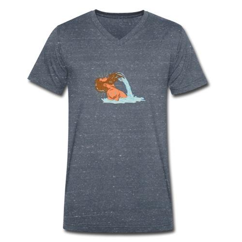 Bart Welle - lustiges Geschenk für Männer mit Bart - Männer Bio-T-Shirt mit V-Ausschnitt von Stanley & Stella