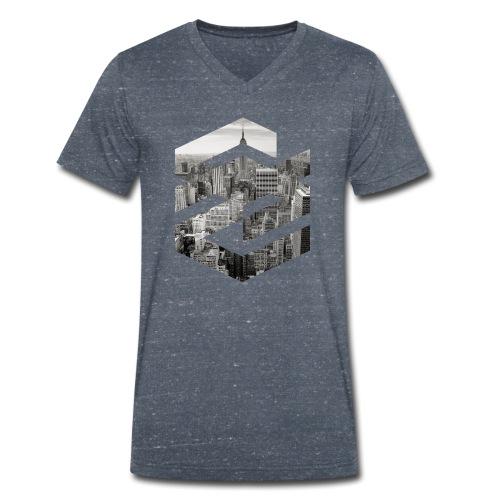 NewYork Manhatten EmpireState Geometische Form - Männer Bio-T-Shirt mit V-Ausschnitt von Stanley & Stella