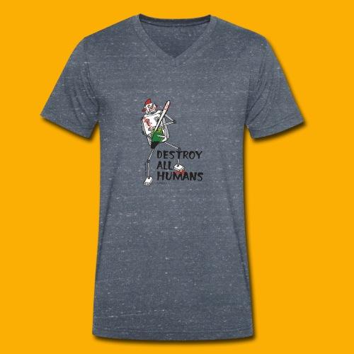 Dat Robot: Destroy Series Killer Clown Light - Mannen bio T-shirt met V-hals van Stanley & Stella