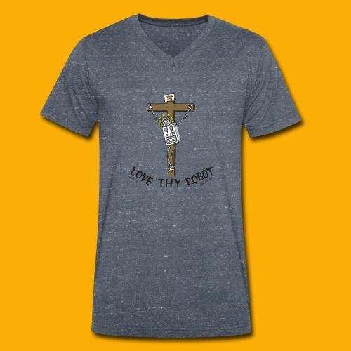 Dat Robot: Love Thy Robot Jesus Light - Mannen bio T-shirt met V-hals van Stanley & Stella