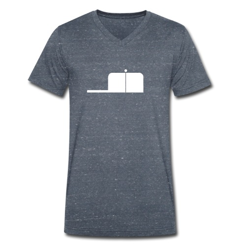 SigWood weiß - Männer Bio-T-Shirt mit V-Ausschnitt von Stanley & Stella