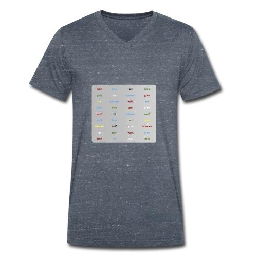 Stroop Test - Männer Bio-T-Shirt mit V-Ausschnitt von Stanley & Stella