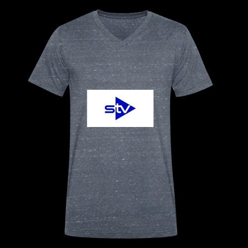 Skirä television - Ekologisk T-shirt med V-ringning herr från Stanley & Stella