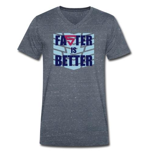 Faster is Better - T-shirt bio col V Stanley & Stella Homme