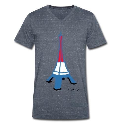 Paris Tour Eiffel - T-shirt bio col V Stanley & Stella Homme