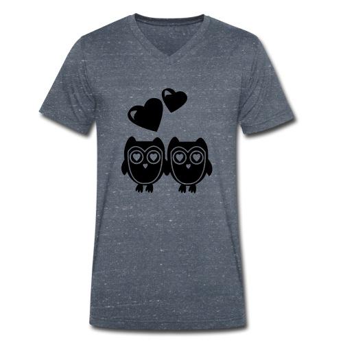 verliebte Eulen - Männer Bio-T-Shirt mit V-Ausschnitt von Stanley & Stella