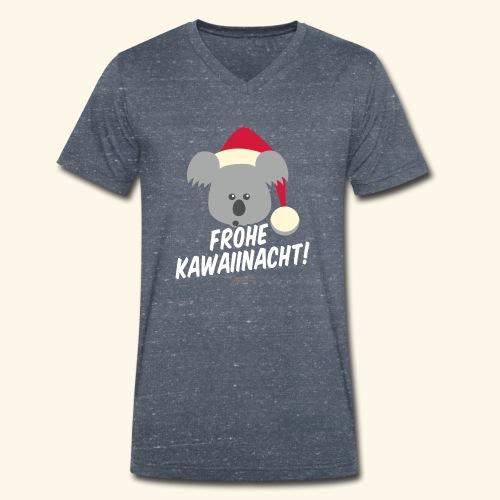 Ugly Christmas Kawaiinacht für Weihnachten - Männer Bio-T-Shirt mit V-Ausschnitt von Stanley & Stella