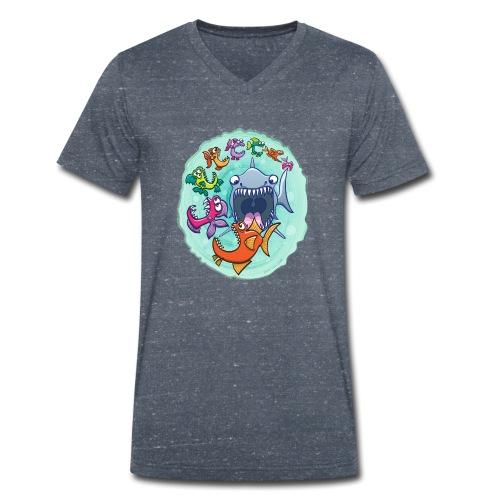 Big fish eat little fish and vice versa - Men's Organic V-Neck T-Shirt by Stanley & Stella