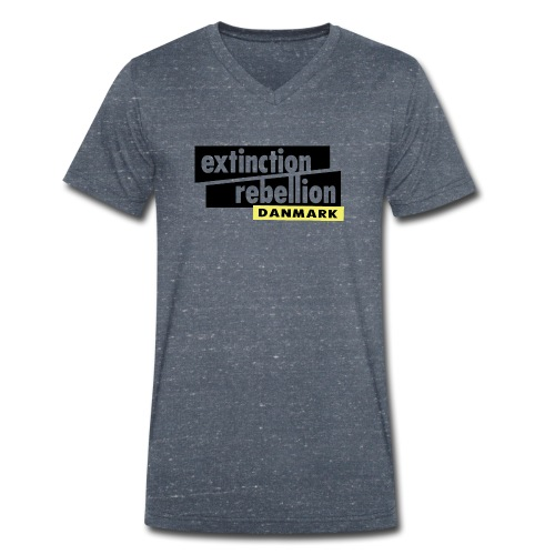 Extinction Rebellion Danmark SORT logo - Økologisk Stanley & Stella T-shirt med V-udskæring til herrer