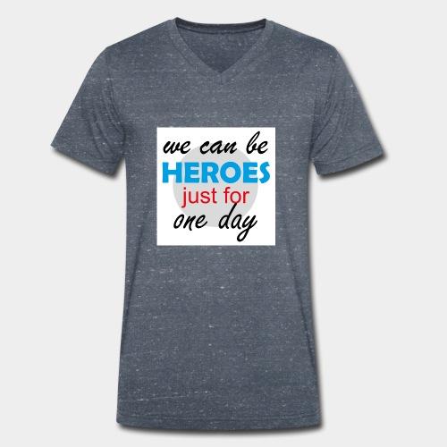 GHB Jeder kann für 1 Tag ein Held sein 190320181W - Männer Bio-T-Shirt mit V-Ausschnitt von Stanley & Stella