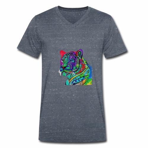 Tiger Tee - Men's Organic V-Neck T-Shirt by Stanley & Stella