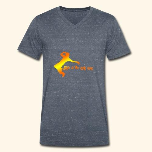 Style is the only way - T-shirt ecologica da uomo con scollo a V di Stanley & Stella