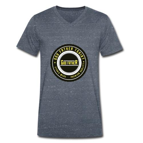 GOD FATHER LOGO 1 - Men's Organic V-Neck T-Shirt by Stanley & Stella
