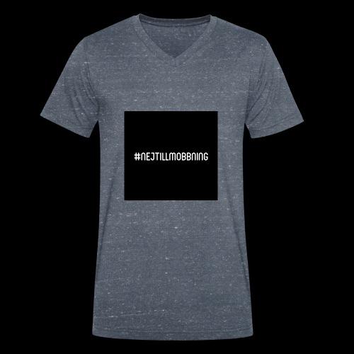 #nejtillmobbning - Ekologisk T-shirt med V-ringning herr från Stanley & Stella