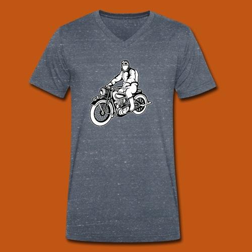 Chopper / Motorrad 04_schwarz weiß - Männer Bio-T-Shirt mit V-Ausschnitt von Stanley & Stella