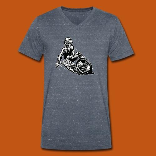 BMX / Mountain Biker 03_schwarz weiß - Männer Bio-T-Shirt mit V-Ausschnitt von Stanley & Stella