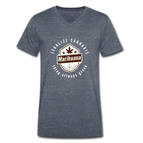 Legalize Cannabis Smoke Weed - Farben änderbar - Männer Bio-T-Shirt mit V-Ausschnitt von Stanley & Stella