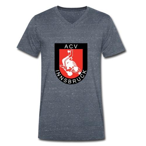 AC Vollkraft Logo - Männer Bio-T-Shirt mit V-Ausschnitt von Stanley & Stella