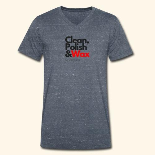 Clean,polish en wax - Mannen bio T-shirt met V-hals van Stanley & Stella