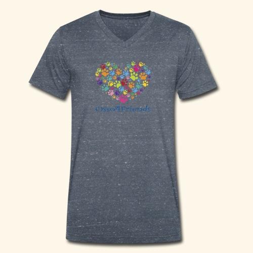 CUOREZAMPE - T-shirt ecologica da uomo con scollo a V di Stanley & Stella