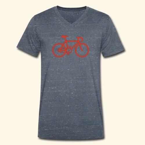 Rennrad, Race-Bike, Fahrrad - Männer Bio-T-Shirt mit V-Ausschnitt von Stanley & Stella