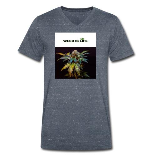 WEED IS LIFE - Männer Bio-T-Shirt mit V-Ausschnitt von Stanley & Stella