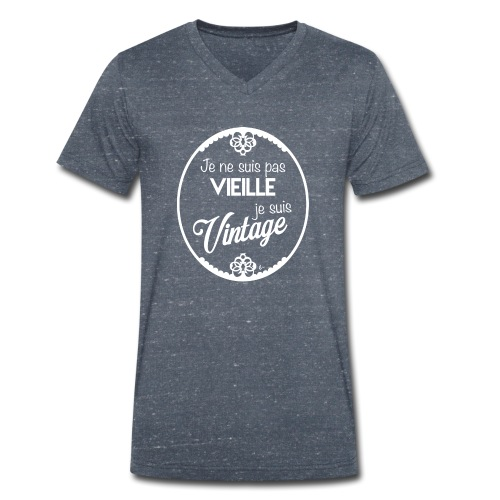 Je ne suis pas vieille (blanc) - T-shirt bio col V Stanley & Stella Homme
