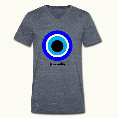 luck eye - Mannen bio T-shirt met V-hals van Stanley & Stella