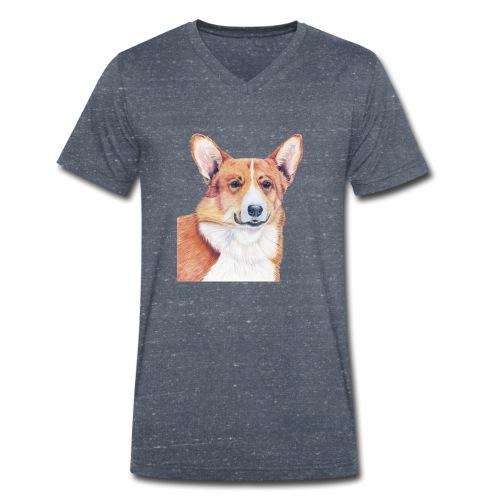 welsh corgi pembroke - Økologisk Stanley & Stella T-shirt med V-udskæring til herrer
