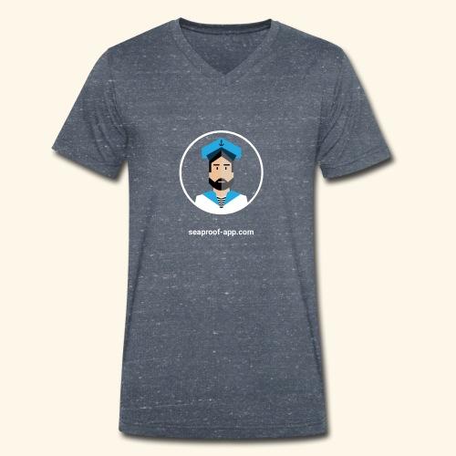 SeaProof App - Männer Bio-T-Shirt mit V-Ausschnitt von Stanley & Stella