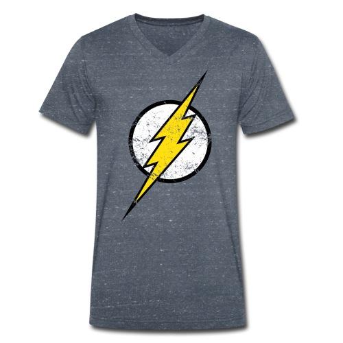 DC Comics Justice League Flash Logo - Männer Bio-T-Shirt mit V-Ausschnitt von Stanley & Stella