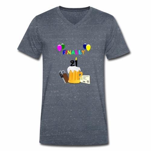 Finally 21 (2) - Men's Organic V-Neck T-Shirt by Stanley & Stella