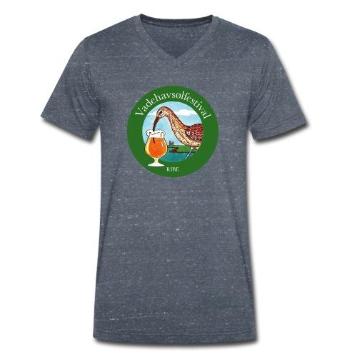 Vadehavsølfestival - Økologisk Stanley & Stella T-shirt med V-udskæring til herrer