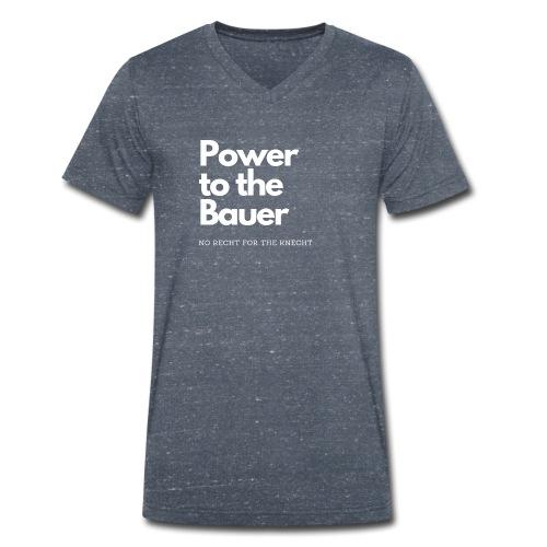 Power to the Bauer - Cooles Design für´s Land - Männer Bio-T-Shirt mit V-Ausschnitt von Stanley & Stella