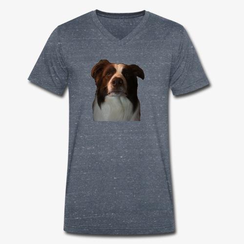 colliebraun - Mannen bio T-shirt met V-hals van Stanley & Stella